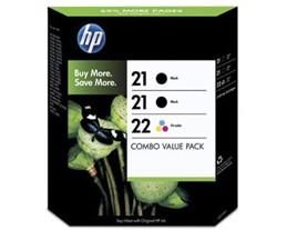 HP Genuine 21/21/22 Ink Cartridges Multipack