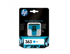 Genuine HP 363 Cyan Ink Cartridge