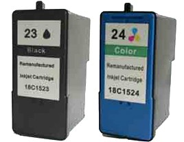 Lexmark No 23 and 24 Ink Cartridges