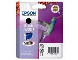 Genuine Epson T0801 Black Ink Cartridge