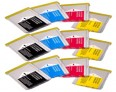 Brother Compatible LC970 Ink Cartridges Triple Multipack