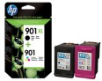 Genuine HP 901XL Black 901 Colour Ink Cartridges