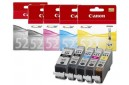 Genuine Canon PGi-520BK and Cli-521 Printer Ink Cartridges