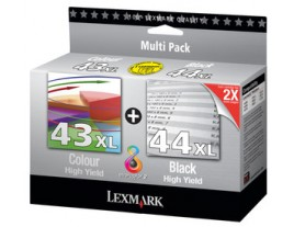 Genuine Lexmark 43XL/44XL Ink Cartridges
