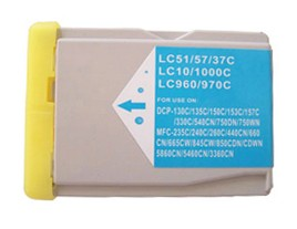 Brother Compatible LC1000C Cyan Ink Cartridge