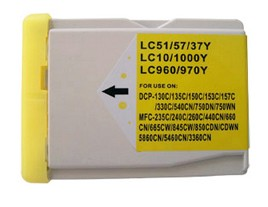 Brother Compatible LC1000Y Yellow Ink Cartridge