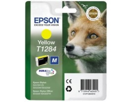 Genuine Epson T1284 Yellow Ink Cartridge