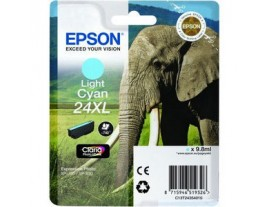 Epson 24XL Light Cyan Ink Cartridge Genuine - T2435