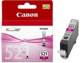 Genuine Canon Cli-521M Magenta Ink Cartridge