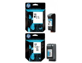 HP Genuine 15 17 Ink Cartridges