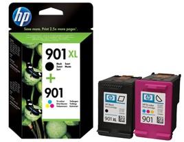 Genuine HP 901XL Black 901 Colour Ink Cartridges