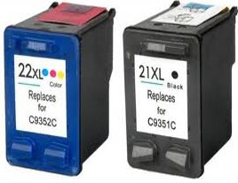 HP 21XL and 22XL Ink Cartridges
