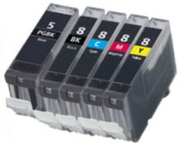 Canon PGi-5/Cli-8 Compatible Ink Cartridges Multipack