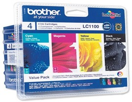 Brother LC1100 Ink Cartridges Genuine Multipack (LC1100VALBP)
