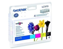 Genuine Brother LC970 Ink Cartridges Multipack (LC970VALBP)
