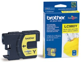 Genuine Brother LC980Y Yellow ink cartridge