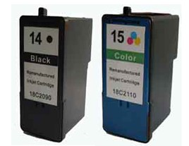 Lexmark No 14 and 15 Ink Cartridges