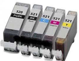 Canon PGi-520 Cli-521 Compatible Ink Cartridges Multipack
