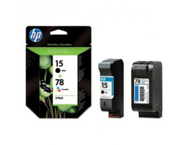 HP Genuine 15 and 78 Ink Cartridges SA310AE