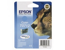 Genuine Epson T0712 Cyan Ink Cartridge