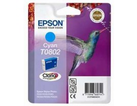 Genuine Epson T0802 Cyan Ink Cartridge