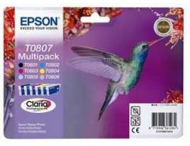Genuine Epson T0807 Ink Cartridges