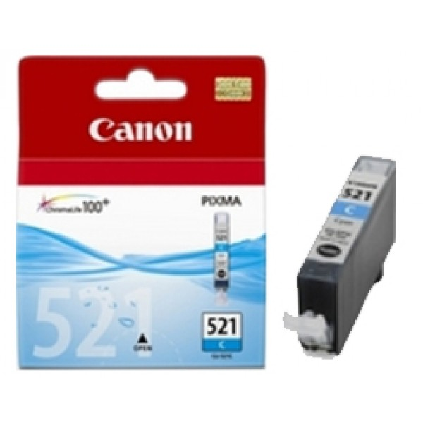 Genuine Canon Cli-521C Cyan Ink Cartridge