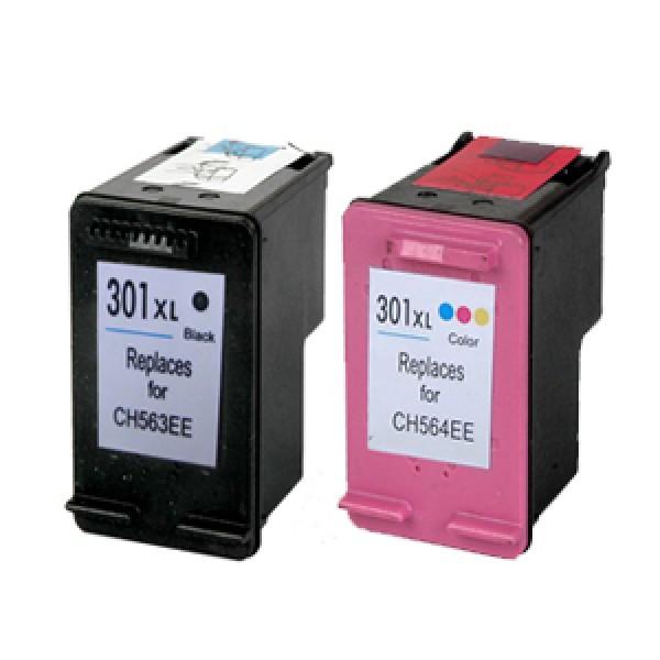 HP 301XL Black / Colour Ink Cartridges