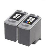 Canon PG-37 and CL-38 Compatible Black & Colour Ink Cartridges