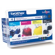 Genuine Brother LC980 Ink Cartridges Multipack (LC980RBWBP)