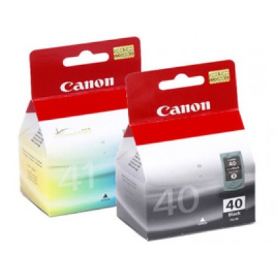 Genuine Canon PG-40 and CL-41 Black & Colour Ink Cartridges